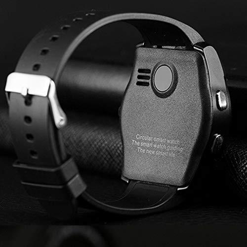 Orologio da Polso Portatile Impermeabile Smart Watch Uomo con Fotocamera Smartwatch Pedometro Orologio da Polso Nero