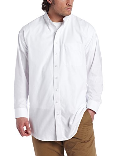 Cutter & Buck Men's Big-Tall Long Sleeve Epic Easy Care Nailshead Shirt, White, XX-Large/Tall