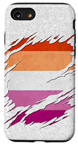 iPhone SE (2020) / 7 / 8 Lesbian Pride Flag Ripped Reveal Case