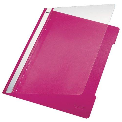Esselte Leitz Hefter Standard, A4, langes Beschriftungsfeld, PVC, pink