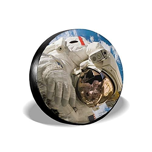 Tcerlcir Cubierta Universal de Ruedas de Repuesto Funda Protectora Astronauta Impermeable para Remolques, Casas Rodantes, SUV y Otros 14'/15'/16'/17'