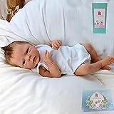 GLIANG 18Pulgadas 46Cm MuñEcas para Bebes, Bebes Reborn Baratos Silicona, Nenuco Bebe NiñOs.