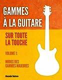 Gammes à la guitare sur toute la touche: Volume 1: Modes des gammes majeures
