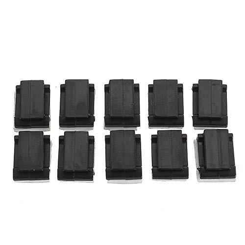 XUSUYUNCHUANG-HAT 10Pcs Servo Kabel Sicherheit Schnalle Clip mit doppelseitigem Schaumklebeband Schwarz RC Ersatzteile Drone Zubehör