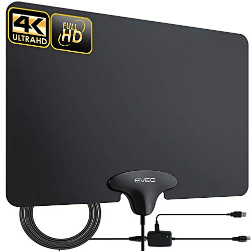 commercial TV Antenna – Ultra Flat HDTV Indoor Antenna with EVEO Amplification, Digital Antenna for HDTV Indoor Antenna – HD… antenna for rural area