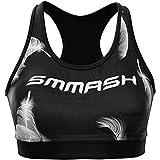 SMMASH Herme Reggiseno Donna Sportivo, FitnessTop Sportivo Donna, Crossfit, Yoga, Pilates, Traspirante e Leggero, Materiale Antibatterico, Prodotto nell'Unione Europea (S)