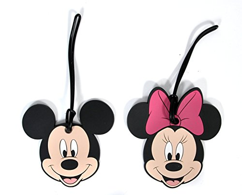 Disney Mickey and Minnie Mouse Suitcase Luggage ID Tags for Vacations