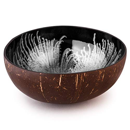 Kaloogo Cocobowl Splash Kokosnuss Deko Schale (weiß, poliert)