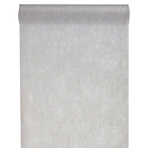 Inspirarte Deco SANTEX Tischläufer Fleece grau 30 cm x 10 m Dekostoff 2810