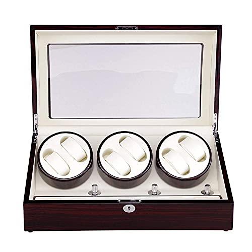 MERCB Reloj de madera de lujo Bobinadora automática 6+7 reloj devanadera o 13 relojes Spinning caja de reloj