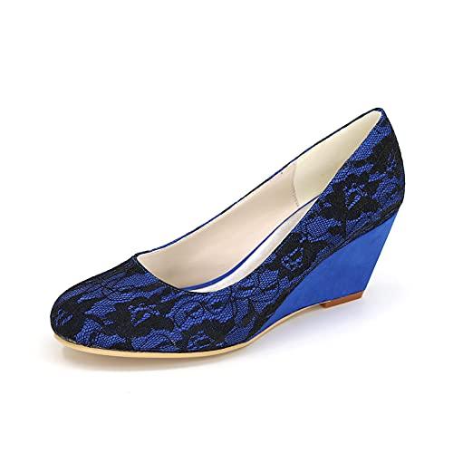 Zapatos De Boda De Satén para Mujer Zapatos De Salón De Novia...
