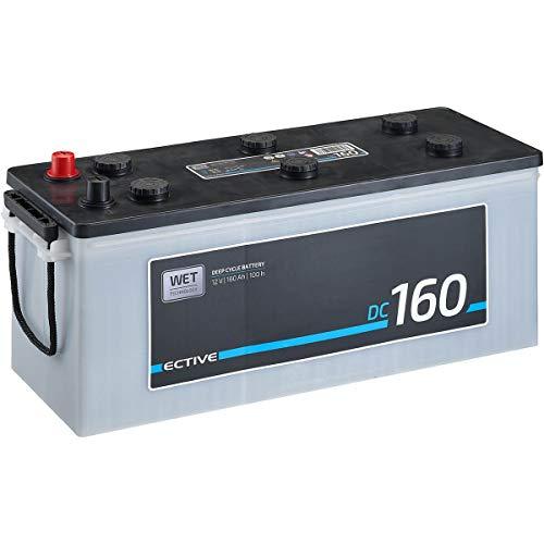 ECTIVE 12V 160Ah Nass Batterie DC-Serie Solar Versorgungsbatterie in 5 Varianten: 90Ah - 260Ah (wartungsfrei)