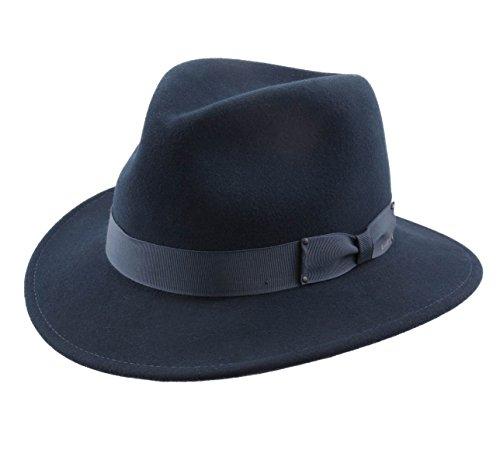 Bailey of Hollywood - Chapeau Fedora Pliable imperméable Feutre - 8 Coloris - Homme ou Femme Curtis - Taille L - bleu-nv411