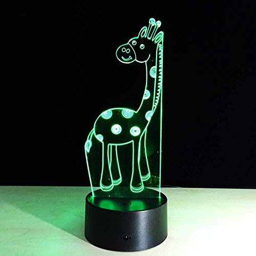 Nachtlampje 3D-slaaplamp powerbank USB-LED 3D-lamp Giraffe 3D Touch afstandsbediening LED bureaulamp geschenk sfeer 3D-verlichting
