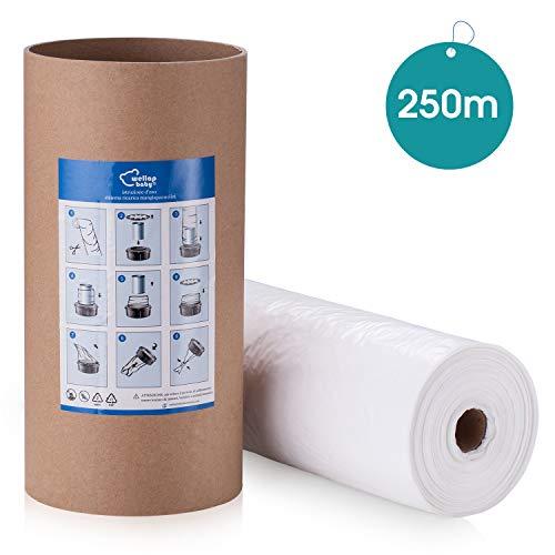Recharges Poubelle compatible avec Tommee Tippee Sangenic Tec | Angelcare | Litière Locker II + tube en carton pour le stockage et le remplissage, réduire les odeurs,200m + 50m GRATUIT (250m + tube)
