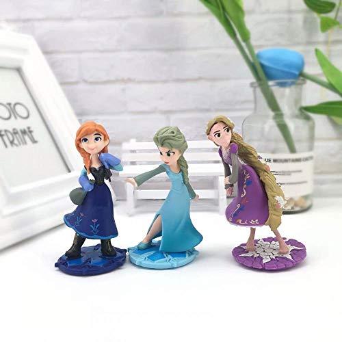 Decorazione Torta di Compleanno Decorazione da Forno Principessa Biancaneve-Frozen 3 Pzzeenca