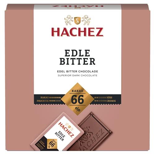 Hachez Täfelchen Edle Bitter 66%, 4er Pack (4 x 165 g)