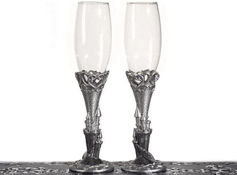 deportes calientes Platinum Castle Collection Toasting Glasses C1753 C1753 C1753 Quantity of 1 by Cassiani  alta calidad general