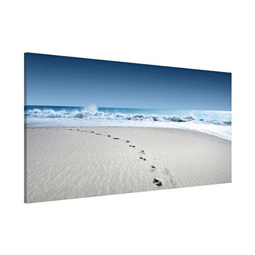 Apalis Magnettafel Spuren im Sand Memoboard Design Quer Metall Magnet Pinnwand Motiv Wand Stahl Küche Büro, Größe HxB: 37cm x 78cm