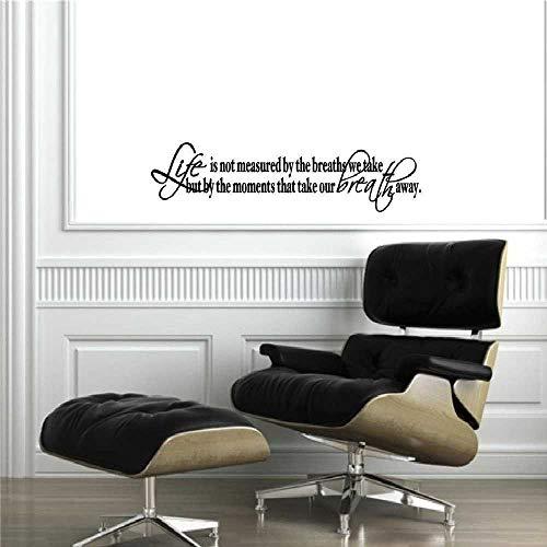 DINGDONG ART Pegatinas De Pared Moderno Plano Decorativo LaVida No Se Mide Cita Creativa Calcomanía De ParedSalón Dormitorio Hogar