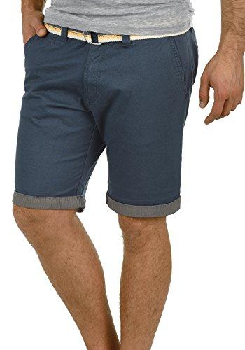 !Solid Lagos Herren Chino Shorts Bermuda Kurze Hose Mit Gürtel Aus Stretch-Material Regular Fit, Größe:XL, Farbe:Insignia Blue (1991)