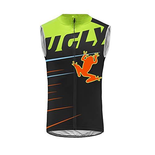 Uglyfrog Maillot Ciclismo Verano Sin Mangas Hombre Transpirable Elástico y De Secado Rápido, Camiseta MTB Profesional con Corte Slim para Bicicleta De Montaña Carretera Chaleco