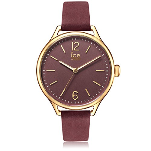 Ice-Watch - ICE time Red Champagne - Women's wristwatch with leather strap - 013076 (Small)