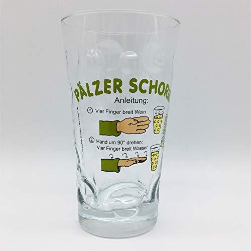 Pfälzer Schorle Anleitung Dubbeglas 0,5 L - mit Aufdruck Pälzer Schorle