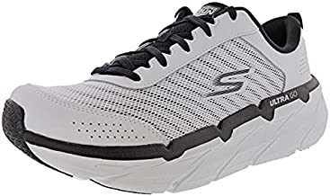 Skechers Women's Max Cushioning Premier Graceful Moves Running Shoes, White/Black, 9.5