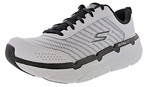 Skechers Women's Max Cushioning Premier Graceful Moves Running Shoes, White/Black, 7.5