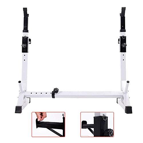 Einstellbarer Squat Rack mit Spotter Stangen Weight Lifting Stand Power Cage Frame Bench Rack