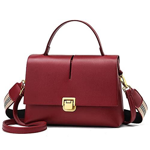 BeniNuevo bolso de hombro Messenger Bag-Vino rojo