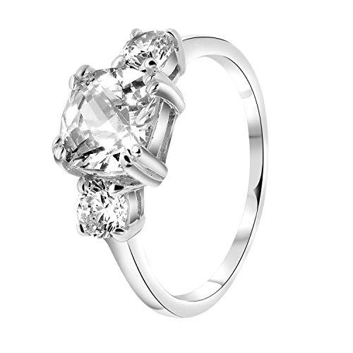 Lucardi - Ring, 925 Silber, mit Zirkonia - für Damen - 925 Silber
