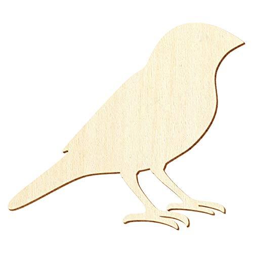 Holz Fink - Deko Basteln 3-50cm, Größe:5cm, Pack mit:10 Stück