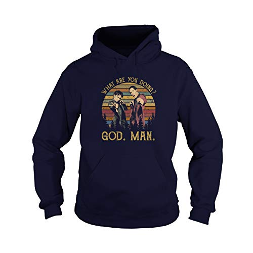 Zoko Apparel Unisex What are You Going Vintage Adult Hooded Sweatshirt (Navy, Small)