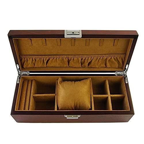 JIANGCJ Bella Jewelry Box Organizer Joyas de Madera Cofre para Anillo Collar Pendiente Reloj Joyero Caja Organizador Capacidad de Gran Capacidad Multiuso