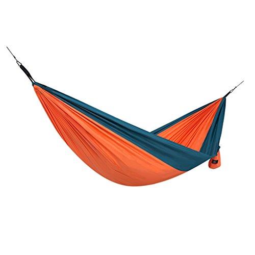 Hamacs extérieur Portable Ultra léger Camping sécurité de Voyage Jardin et Patio (Color : Orange, Size : 148cm/58.3inch)