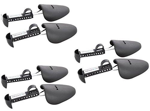 SHOESHINE INDIA Men's Black Plastic Shoe Trees Shaper - Pack of 3