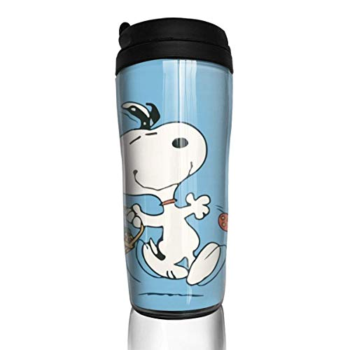 Snoopy tanzen Kaffeebecher Travel Mug Thermobecher Isolierbecher Doppelwandig Isolierung Kaffeetasse