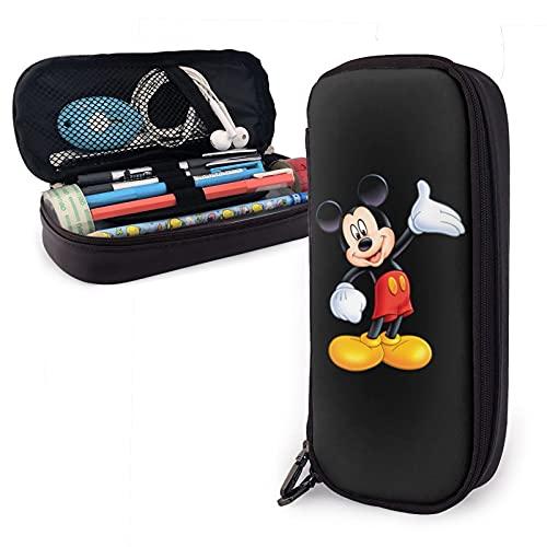 Estuche de dibujos animados de Mickey Mouse de alta capacidad con cremallera Estudiante bolsa de papelería lápiz para estudiantes universitarios oficina
