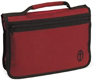 Wordkeeper ® Economy Canvas Bible Cover, Burgundy, Extra Large