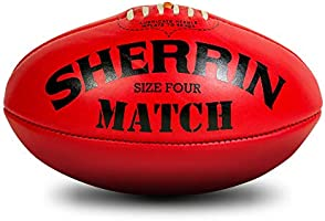 Sherrin Match AFL Leather Football, red (4741)