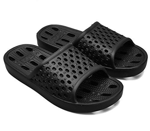 Damen Herren Badeschuhe Pantoletten Bad Anti-Rutsch Dusche Hausschuhe Haushalt Slipper Sommer Plastik Schuhe Sandaeln Hausschuhe Pool Gym