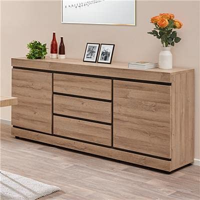 NOUVOMEUBLE Credenza 190 cm, contemporaneo, colore legno chiaro Marlon
