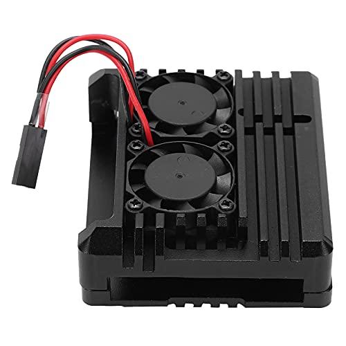Carcasa de enfriamiento de aleación de Aluminio, Raspberry Pi 3A + Carcasa multifunción Negra con Apariencia Fresca y Hermosa Uso fácil para Herramienta de reparación