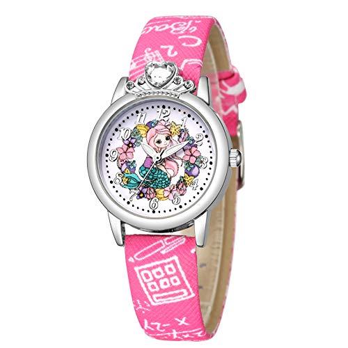MZRI Relief Trend Fashion Sports Children's Football Pattern Quartz Watch Gift (Hot Pink)