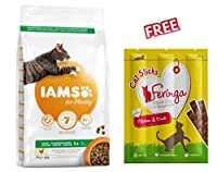 The finest ingredients go into this IAMS for Vitality Adult Fresh Chicken Dry Cat Food Economy Pack: 2 x 10kg to offer your adult cat between the ages of 1-6 years an exquisite flavour experience. It contains 40% poultry meat, for an unbeatable flavo...