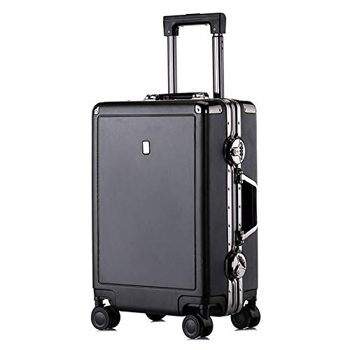 Thicken Luggage, with Spinner Wheels Strong and Sturdy Lightweight ABS Suitcase for Tourism Vacation Storage-34x22x55cm-black