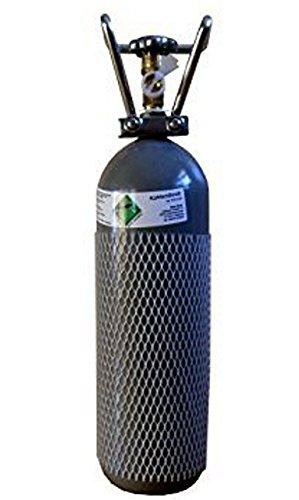 CO2 2KG Flasche gefüllt & FABRIKNEU! mit Lebensmittel CO2 (E290) Kohlensäure TÜV 2029