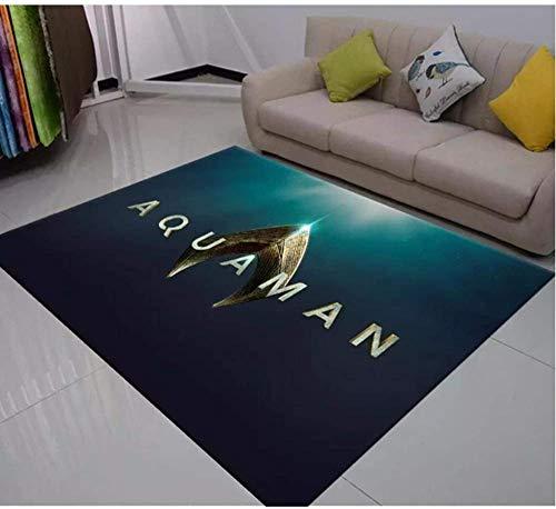Alfombras Aquaman Grande De Área Alfombra Alfombra De Felpudo Alfombra De Habitación Dormitorio Cocina Sala De Estar Alfombra Antideslizante Alfombra-140 X 200 CM